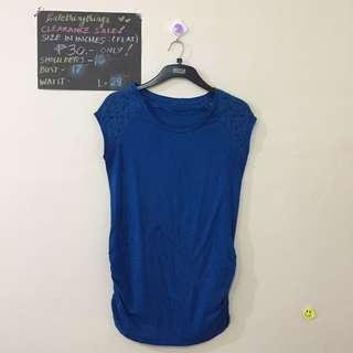 🔥Medium - Royal Blue Extended Sleeves Top with Lace detail