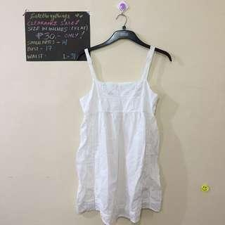 🔥 Small - Plain White Cotton Nightie - check description for details