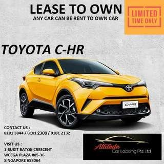 Brand New CHR for lease
