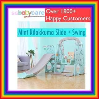 🚚 FREE DELIVERY Mint Rilakkuma Slide + Swing Set