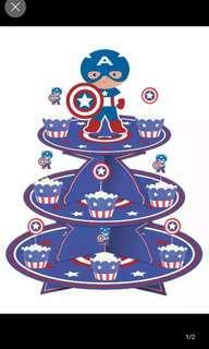 Captain America Dessert Tray