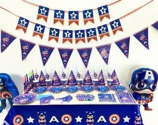 Captain America party theme