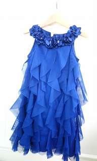 寶石藍小禮服 (5-6y)