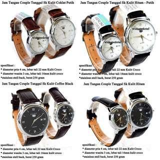 jam tangan Pasangan Tanggal Sk Kulit