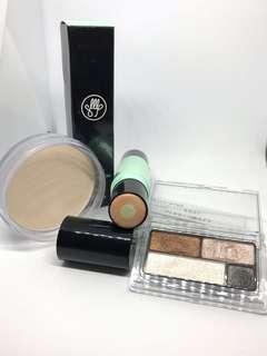 Son&Park foundation, Muji compact power + eyeshadow