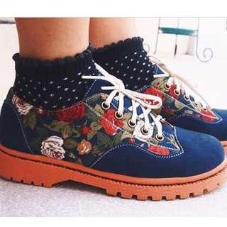 Flameon footmate flower shoes