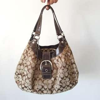 Reduced Price: Authentic Coach Signature hobo bag F15083 brown