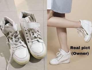White sneakers wedges shoes / sepatu casual putih h&m bershka pull and bear