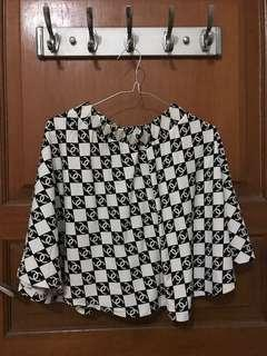 Rok skirts wanita motif channel