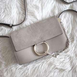 Authentic Chloe Faye Bag in Motty Grey