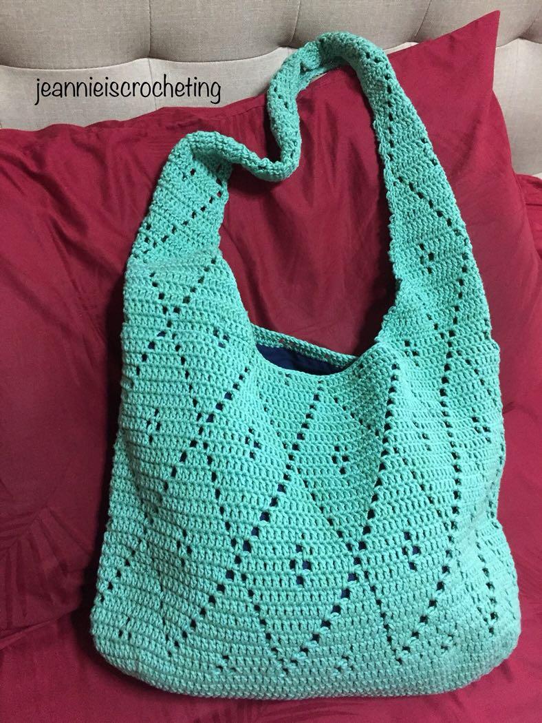 54c62f31f 100% crocheted boho bag, Women's Fashion, Bags & Wallets, Sling Bags ...