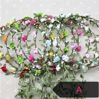 Flower crown , hair wreath , free normal mail