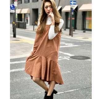 全新 日本品牌 SPIGA 魚尾吊帶長裙 長洋裝 共3色