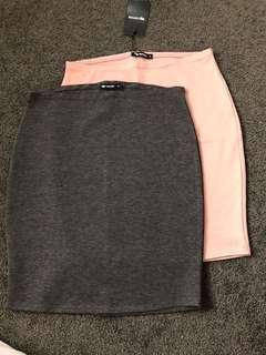 Valley girl body con skirt