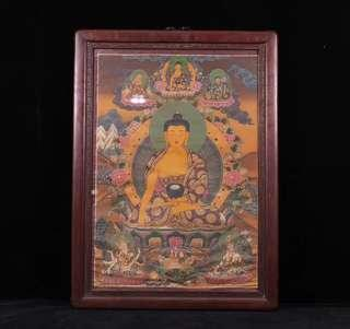 Medicine Buddha Thangka, Late Qing 晚清、藏傳佛教、寺廟老藥師佛唐卡