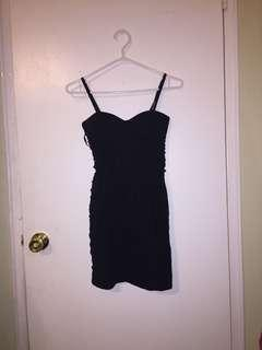 BLACK LACE UP dress