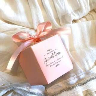 Sweet Love Hexagon Candy Gift Box with Ribbon
