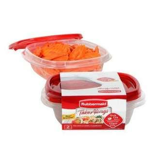 Rubbermaid Take Along Square 2 Pack