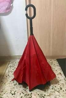 Inverted Umbrella With C Handle