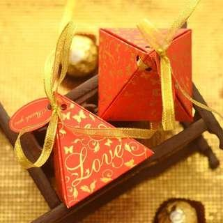 Red Love Pyramid Candy Gift Box
