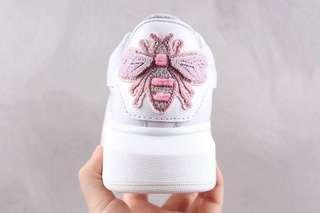 Alexander McQueen Oversized Sneakers - Bee 'White / Pink'