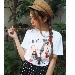 全新 日本品牌現貨 SPIGA  kids girl 打印T恤 上衣 共2色