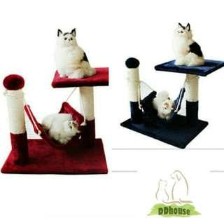 Kitten Scratching Tower Cat Small Cat Trees Small Cat Condos Small Size Kitten Toys Scratching Post Sisal Rope With Hammock Bed