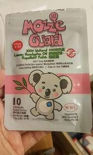 Mozzie guard mosquito insect repellent patch