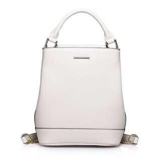 Genuine Leather White Backpack