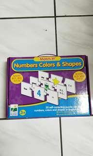 二手益智拼圖,英文數字顏色