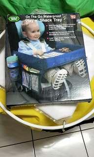 全新,幼兒安全坐椅遊戲桌
