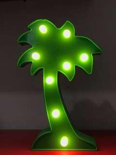 LAMPU TUMBLR GREEN PALM TREE