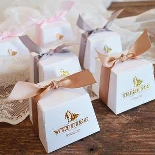 Sweet Gold Glitter Wedding Candy Gift Box