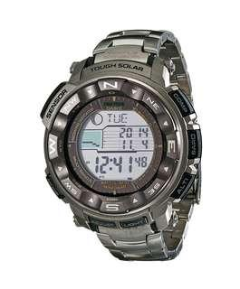 Casio Protrek 2500T Multi Band Atomic Timekeeping Tough Solar ABC Watch Titantium Band