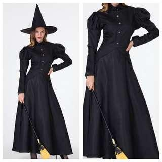 IN STOCK Black witch costume professor mcgonagall costume Harry Potter witch costume Halloween costume all black costume fright night costume