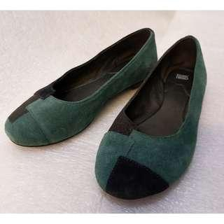 Camper green and black leather shoe eur 35