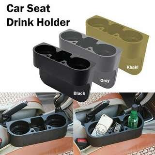 Car seat drink holder