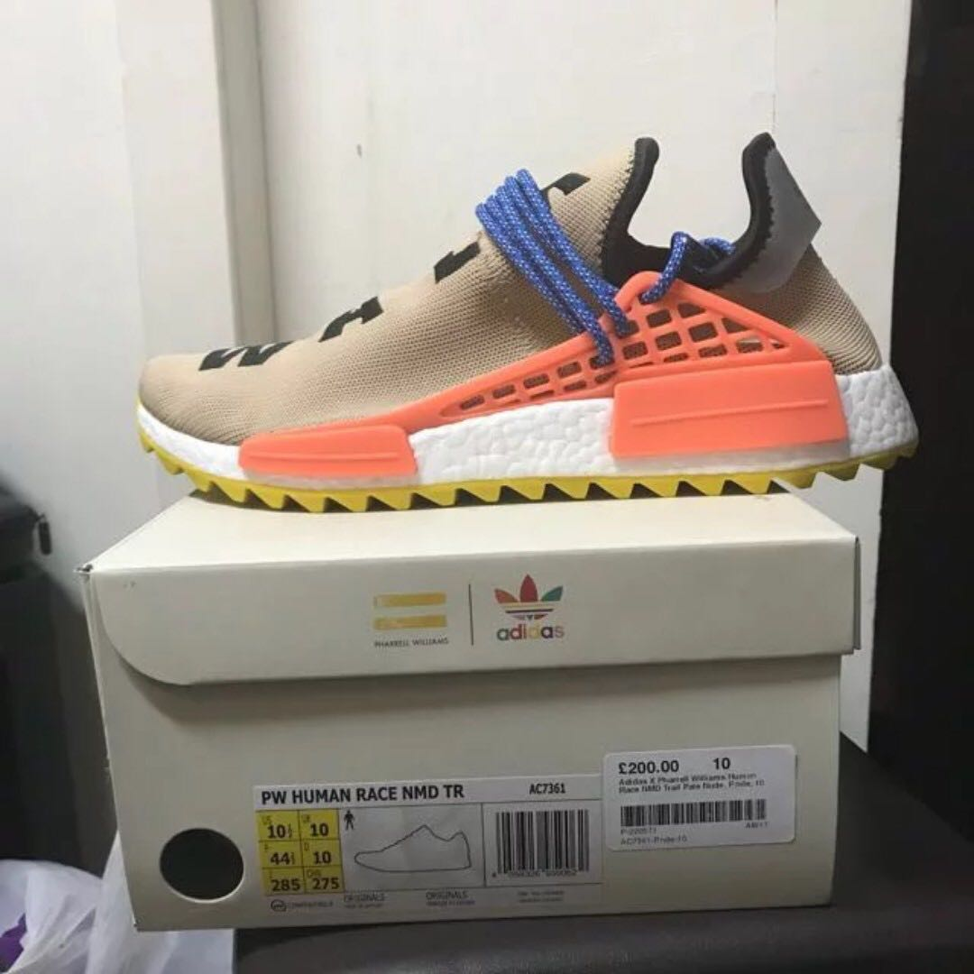 372019cf8 10.5US Adidas NMD Human Race Trail Pharrell Williams Pale Nude ...
