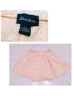 🌸Lovely baby pink rose a-line skirt