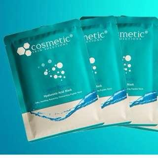Cosmetic Skin Solutions Copper Peptide Hyaluronic Acid Mask 藍銅 paper mask 激光