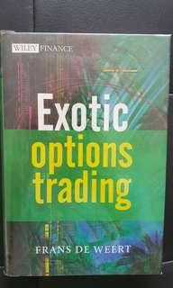 Options Trading book : Exotic options trading