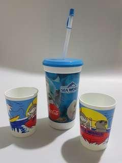 Coca Cola Water tumble & 2 cups