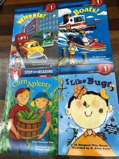 Step into reading level 1 set of 4