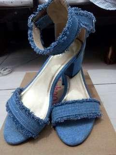 Shoo in denim heels