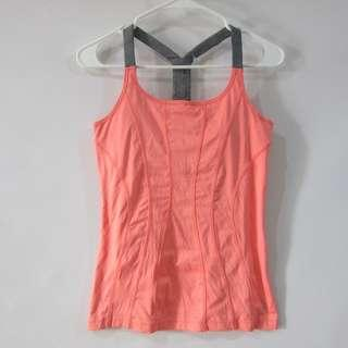 (S-M) MPG spandex workout tank, padded with pad slots, in almost looks new conditions