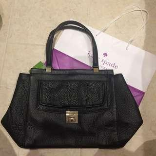 NEW Kate spade black leather tote