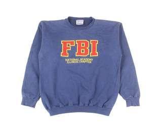 Vintage Distressed FBI Crewneck