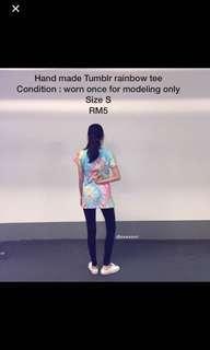 Handmade tumblr rainbow tee