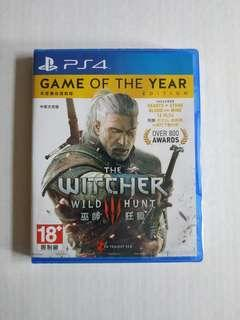 The Witcher 3 Wild Hunt PS4 Game of The Year Edition 巫師3狂獵年度版