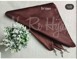 BN Instant Bawal Triangle with charms Matte satin dark brown